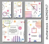 set of artistic colorful... | Shutterstock .eps vector #462902917