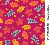 Seamless Pattern With Acorns ...
