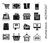 supermarket icons set. simple... | Shutterstock .eps vector #462904267