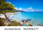 beautiful orange beach on the... | Shutterstock . vector #462906277