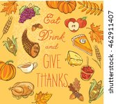 eat drink and give thanks...   Shutterstock .eps vector #462911407
