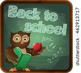 template back to school. school ... | Shutterstock .eps vector #462913717