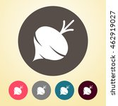 turnip or beet icon in round... | Shutterstock .eps vector #462919027
