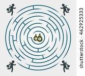labyrinth   running for money   ... | Shutterstock .eps vector #462925333