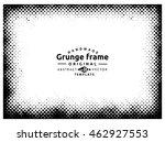 halftone grunge frame  ...