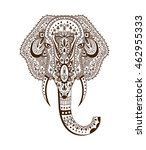 elephant head zentangle... | Shutterstock .eps vector #462955333