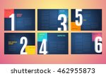 graphic design book template.... | Shutterstock .eps vector #462955873