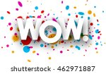 wow paper poster with color... | Shutterstock .eps vector #462971887