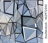 randomly scattered triangles of ... | Shutterstock .eps vector #462972343