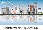 bogota skyline with gray... | Shutterstock .eps vector #462991183