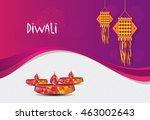 diwali festival template design ... | Shutterstock .eps vector #463002643