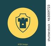 web line icon. shield. | Shutterstock .eps vector #463009723