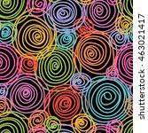 vector seamless doodle swirl... | Shutterstock .eps vector #463021417