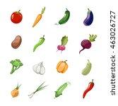 vegetables vector cartoon icons | Shutterstock .eps vector #463026727