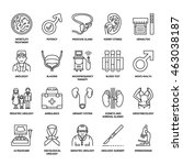 modern vector line icons of... | Shutterstock .eps vector #463038187