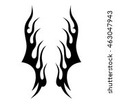 flame tattoo tribal vector... | Shutterstock .eps vector #463047943