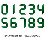 green vector numbers set in... | Shutterstock .eps vector #463060933