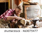 profession  carpentry  woodwork ... | Shutterstock . vector #463075477
