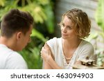 couple having argument | Shutterstock . vector #463094903