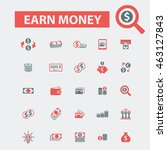 earn money icons | Shutterstock .eps vector #463127843
