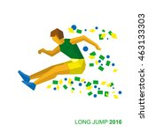 long jumping athlete in the... | Shutterstock .eps vector #463133303