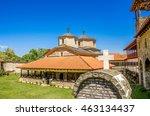 monastery saint john in village ... | Shutterstock . vector #463134437