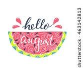 vector hand drawn lettering of... | Shutterstock .eps vector #463142813