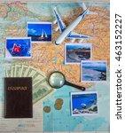 travel concept plan and prepare ... | Shutterstock . vector #463152227