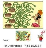 indian snake charmer.... | Shutterstock .eps vector #463162187
