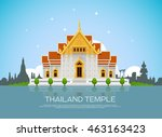 temple thailand landmark and... | Shutterstock .eps vector #463163423