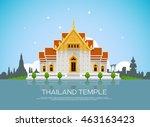 temple thailand landmark and... | Shutterstock .eps vector #463163423