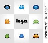 Frog Logo. Funny Frog