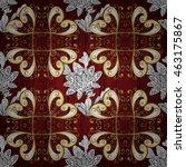 vintage pattern on red... | Shutterstock .eps vector #463175867