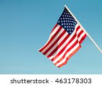 united states flag blows in the ... | Shutterstock . vector #463178303