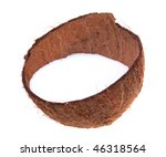 coconut shell with milk on... | Shutterstock . vector #46318564
