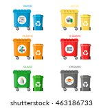 waste management concept. waste ... | Shutterstock .eps vector #463186733