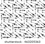 hand drawn boho arrows seamless ... | Shutterstock .eps vector #463205363