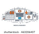 medical flat vector background... | Shutterstock .eps vector #463206407
