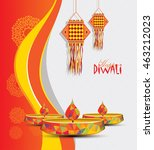 indian traditional diwali... | Shutterstock .eps vector #463212023