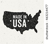 made in usa logo. ink stamp... | Shutterstock .eps vector #463214477