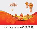 diwali festival template in... | Shutterstock .eps vector #463222757