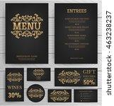 premium restaurant cafe menu ... | Shutterstock .eps vector #463238237