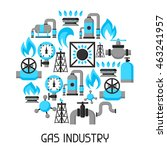 natural gas production ... | Shutterstock .eps vector #463241957