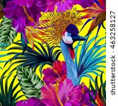 vector floral composition with... | Shutterstock .eps vector #463258127