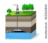 oil extraction. conventional... | Shutterstock .eps vector #463262843