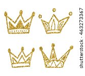 gold crown set isolated on... | Shutterstock .eps vector #463273367