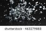 chaotic parallelepiped... | Shutterstock . vector #463279883