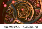 abstract spiral wire background ... | Shutterstock .eps vector #463283873