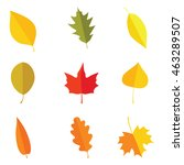 colorful autumn leaves set on... | Shutterstock .eps vector #463289507