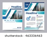 blue brochure layout design... | Shutterstock .eps vector #463336463